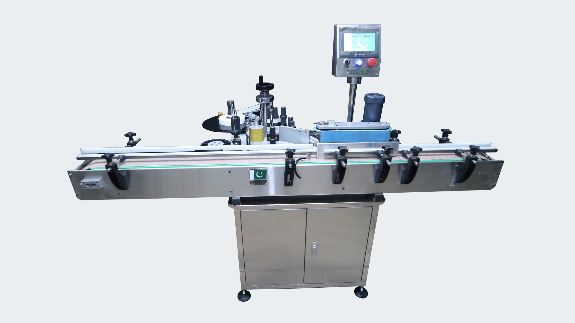 HS RBL-100 Automatic Round Bottle Labeling Machine